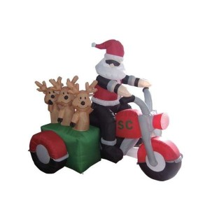 Wait a minute, isn't Santa supposed to be using his reindeer as transportation for his sleigh? I thought that reindeer were means of getting there, not passengers.