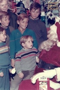 I'm sure little Scotty is afraid of Santa Claus and his older brother Billy is reveling in it as we speak.