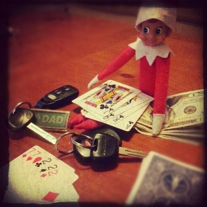 It's very unlikely that Mom's new Hyundai Elantra and Dad's Toyota Truck will never be seen again after this Christmas Eve. Still, I kind of suspect that Sugar Bear might be cheating or counting cards.