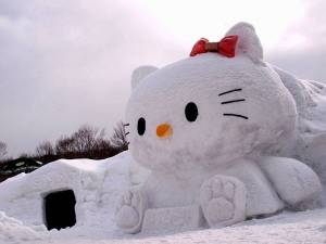 I don't know about you but I need to say that Hello Kitty isn't actually a cat the same way that Gromit isn't actually a dog. Still, Hello Kitty is certainly a Japanese icon in her own right though.
