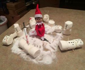 Missy's latest homicidal rampage on snowmen might be the last straw for Santa if he receives word of it at the North Pole. Yes, this girl's very vicious with a gun and a sword.