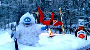 Seems like there will be one less Elf on the Shelf returning to the North Pole this Christmas Eve. Of course, the Abominable Snowman can't wait to eat some delicious elf ribs.