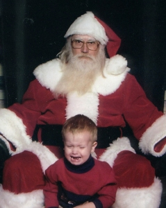"""So I asked the kid what he wanted for Christmas and I stood for the picture. So it ain't my fucking fault that he burst into tears at the sight of me!"""