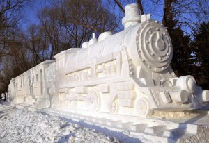 Don't worry this isn't the train from the scary Christmas movie with Tom Hanks. Still, reminds me of an older model of a Coors Light Train.