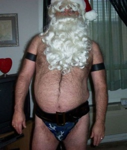 Only Mrs. Claus could ever find such a man attractive and probably took the picture. At least I hope so. Too bad someone found it to post on the Internet.