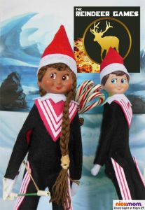 Of course, I'm sure Team Shelf Elf will kill a lot of the other North Pole Tributes with Katniskle's bow and candy canes.