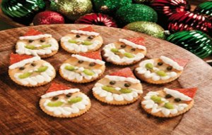 Now I'm sure these are from Ritz crackers that contain cream cheese from a tube, celery, black olive bits, and pepperoni. Still, they are quite cute if you know what I mean.