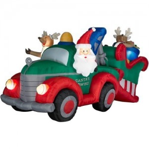 Perhaps we should concede that Santa Claus probably isn't the best driver as far as reindeer pulled sleighs are concerned. Still, I wonder if he has accidents every year or just once in a blue moon.