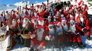 In Samnaun, Switzerland, you have ClauWau or the Santa Claus World Championships where red suited people gather from around the world to compete in Christmas themed contests. Though it's officially to see who's the best Santa team, the laughs are the real goal in this competition.