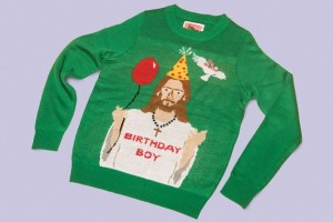 I don't know about you, but I'm not sure if having Jesus on an ugly Christmas sweater is a great idea. In fact, it may possibly border on sacrilege, if you ask me. I mean Jesus kind of deserves more respect than that.