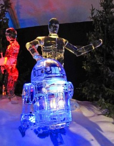 Yes, as they have a Star Wars rendition for everything, so shall I post an ice sculpture display of C3PO and R2 D2.