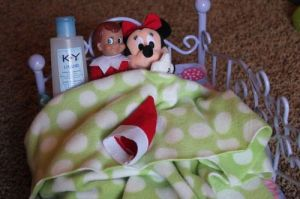 Man, Minnie you're a very bad girl. Then again, I'm sure Mickey wouldn't be very good in bed. I mean his voice must be a major turn off. Still, it would be really funny to see an angry Mickey beat up the elf bedding Minnie.