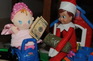 Of course, Timmy seems to be getting really rich off the toys money who seem to show up very high. Hope this picture is from Colorado since pot is totally legal there. I'm not sure if Santa will approve though.