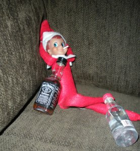 I hate to say this but it looks like Frankie has a bit of a drinking problem. I wonder if the North Pole has AA, rehab, or the 12-step programs? I mean Frankie will hit rock bottom before he knows it.