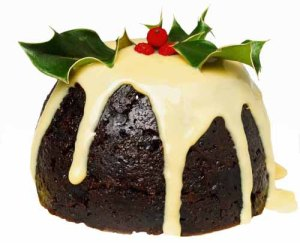 Now this is what the Brits call Christmas pudding. I know it doesn't look like something you'd get from your pudding mix back in the States.