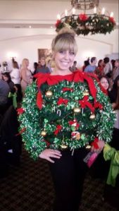 Now this woman seems like she didn't have much choice to wear this sweater at her Christmas Party. Mainly because she's actually a waitress at the country club.