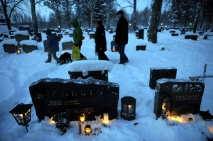 Of course, I'm not sure if going to a cemetery to light candles for dead relatives is my idea for a great Christmas Eve. But, hey, that's what the Finns do.