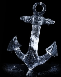 Of course, this is an ice sculpture of an anchor, perhaps for some party at some ice ship or something.