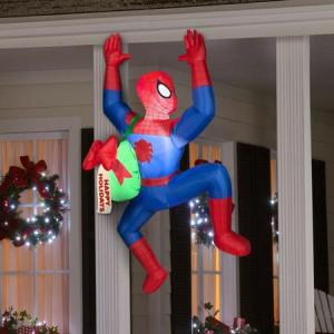 Sorry, that Santa couldn't go on his rounds this year. So you'll have to make do with Spiderman. Sure he has no sleigh and reindeer, but he can swing house to house with his web.