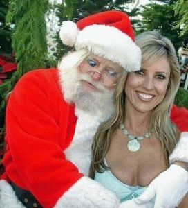 My, my, it seems that Santa Claus has been a very, very naughty boy this year. Guess he's not getting any presents at least from Mrs. Claus.