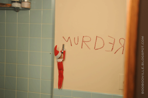"Oh, wait a minute, I just forgot that ""Red Rum"" is murder spelled backwards. My mistake. Still, quite creepy."