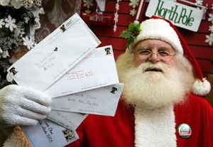 Yes, you can really write to Santa at H0H 0H0 and the Canada Post will assist him. Yes, I mean Canada.