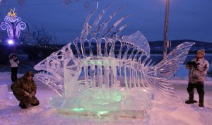 Sure this may be the kind of ice sculpture to traumatize your kids with. But, hey, doesn't it look cool?