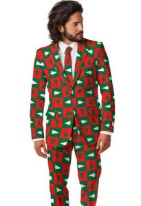Sure this guy may be modeling very ugly suits, but he can take a ride in my one horse open sleigh any day.