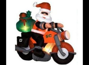 Keep in mind that a motorcycle holds way fewer presents than a sleigh and the insurance is higher. Also, wasn't there a Six Feet Under episode in which a mall Santa got hit by a truck while riding a motorcycle? The biker funeral episode is perhaps one of the best of the series but those kids will be in therapy for life.