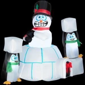 I can understand the penguins since they might freeze to death during Antarctic winters. But the snowman? C'mon, it's made out of snow.