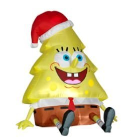 Now this is bound to give Spongebob's youngest fans nightmares. Yet, I hope he gets back into shape after the holidays.