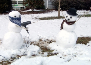 Never underestimate the power of a mugger snowman armed with a hair dryer. For snowmen, these grooming appliances are deadly.