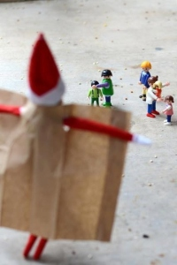 Luckily the Playmobil wasn't on duty at the time or the elf would've been arrested for indecent exposure.
