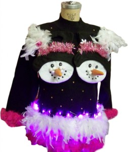 I don't know about you but this flashy Christmas sweater seems so wrong on so many levels. Seriously, why?