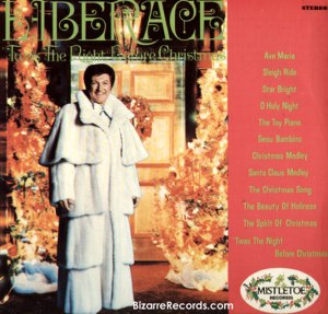 Still, whether you like it or not, I'm sure that there can be no more appropriate image for Liberace Christmas album than having him in his ridiculous multi-decker fur coat. Of course, let's hope it's not made from baby seals.