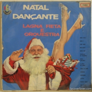 "I know that the title translates to: ""Christmas Dance Party"" from Portuguese. Yet, when I see a picture of two lets sticking out from a sack, I don't think the term ""dance party"" comes to mind. Seems like Santa Claus has some explaining to do."
