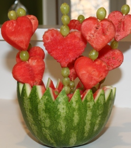 Seriously, who eats watermelon in the middle of winter? It's a summer food for God's sake. Also, this might be made from Edible Arrangements.