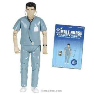Comes with his own stethoscope and X-Ray. Nevertheless, even if a boy does have aspirations of being a male nurse, I highly doubt he'd want this action figure. Seriously, I applaud for trying to bring down gender stereotypes but boys will still find this one lame.