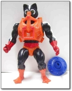 "You have to love how the 1980s seemed to think up ideas for cartoon villains. Nevertheless, I don't think I could say anything better about this toy better than the guy from The Dingleberry: "" The worst thing about this toy was the fact that it stunk. It actually was made to smell like a skunk, it stunk so bad that it made all the toys that I put in the box with it smell like it. It was a little too realistic for my tastes. I also liked how his plastic tank top is covering his nose like he can't even stand his own smell. He also comes with a handgun and a shield, that is a totally nonsensical combination."""