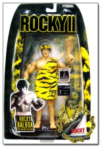 Comes in a saber tooth tiger outfit equipped with his own club. Of course, when you think about it, Stallone really can be a convincing Cro Magnon but that's all I can say about his acting range.