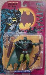 """From io9: """"If modern Batman refuses to use firearms, shouldn't medieval Batman refuse to resort to archery? Just saying."""" Yeah, I guess this person has a point. Nevertheless, he does have a big ass longbow. Still, wonder why they don't have Batman as a medieval knight."""