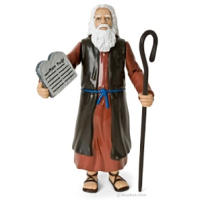 Comes with Ten Commandments and staff. Staff doesn't change into snake nor does it part the Red Sea. Yet, don't put him near any Golden Calves. Also, has a very nasty temper.