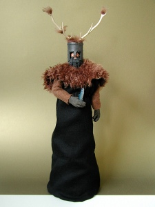 "Comes with antler helmet, fur outfit, and herring. Shrubbery not included. Still, those who hear the Knights Who Say Ni seldom live to tell the tale! I mean they're keepers of the sacred words Ni, Peng, and Neee-wom! Still, if they try forcing you to cut down a tree with a herring, try saying ""it."""