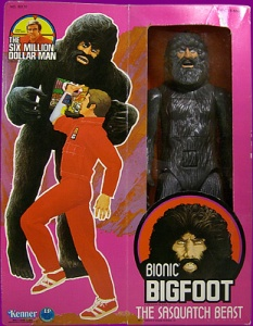 You can press Bionic Bigfoot's crotch to reveal his insides. Nevertheless, this basically the closest thing you'll find to a Sasquatch Beast than anything you'd see on The History Channel.