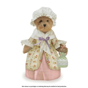 Now I'm sure this is not an Abigail Adams bear because the Boyd's Bear website says she's from the Williamsburg Collection. Still, she'd make a lovely gift for an elementary school teacher trying to reach out to students on the American Revolution.