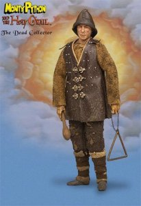 Comes with his triangle and wooden club. Death cart not included. Courtesy of Monty Python and the Holy Grail. Want this.