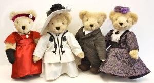 Of course, this Limited Teddy Bear set includes, Lady Mary, Lady Cora Countess of Grantham, Lord Robert Earl of Grantham, and the Dowager Countess Violet. Still, wish they some of the other characters though.