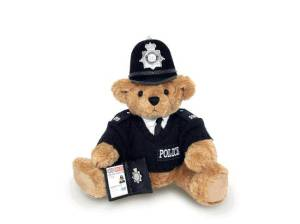 As a die-hard Monty Python fan, I couldn't let this British cop Teddy Bear slip by me for this post. Still, you have to love his little badge and Bobbie hats they still wear to day. Yet, in media, they always seem so polite.
