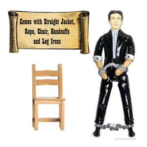 "Comes with his own chair, handcuffs, straitjacket, rope, and leg irons. Of course, the only thing that he can't escape is a burst appendix in 1926. Then again, he basically inspired such ""magicians"" as David Blaine and Criss Angel."