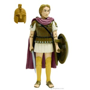 Comes with sword, shield, and helmet. Of course, by the time he was 25, he had a resume that included him being King of Macedonia, Pharaoh of Egypt and Great King of Persia. Not to mention, founding a world changing empire that would spread Greek culture further than it's ever had before. Has a tendency to name cities after himself, engage in large scale battles, being sexually ambiguous while being married to 2-3 different women at the same time, and dying in Babylon at 32.